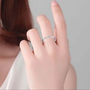 Authentic 925 Sterling Silver Round Zirconia Ring
